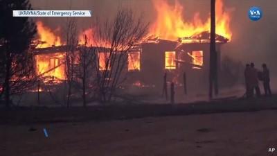 Ukrayna'nın Orman Yangınlarıyla Mücadelesi Devam Ediyor