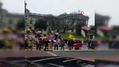 - ABD'de karantina karşıtları sokağa indi