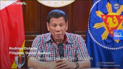 Covid-19 önlemlerine uymayanlar için 'vur emri' veren Duterte'den 'sıkıyönetim' tehdidi