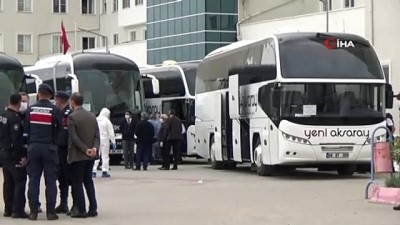 Karantinası biten ve Katar'dan gelen 349 Türk vatandaşı evlerine gönderildi
