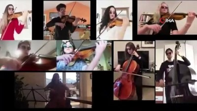 Korona virüs engel olamadı, mesafeler müzikle aşıldı
