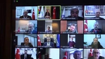 Oda ve borsa başkanları video konferansla bir araya geldi