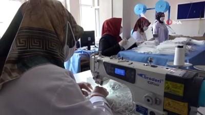 halk egitim -  Halk eğitim merkezileri günlük 20 bin maske üretiyor