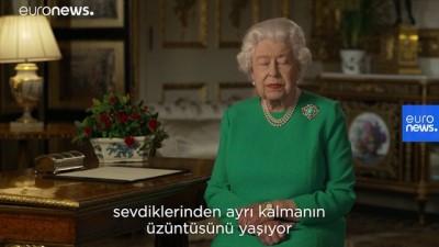 Kraliçe Elizabeth halka seslendi: Covid-19'u İkinci Dünya Savaşı ruhuyla yeneceğiz