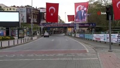 İstanbul'un merkezi yerleri 4'ncü kısıtlamada da boş kaldı