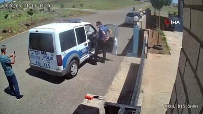 arac plakasi -  Polis ile öğretmenin maske gerginliği kamerada