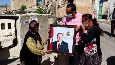 portre -  Engelli genç kızın Cumhurbaşkanı Erdoğan sevgisi