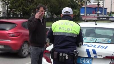 Sokağa çıkmaktan ceza yedi, basını tehdit etti