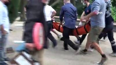 Maçka Parkı'nda dehşet...İçki şişesini sağlık çalışanının başında parçaladı
