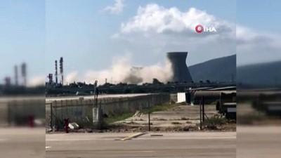 petrol rafinerisi -  - İsrail'de soğutma kulesi çöktü