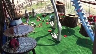 dinozor -  5 metrelik dinozor maketi görenleri şaşkına çeviriyor