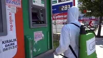 metrobus duraklari -  Esenyurt'ta dezenfeksiyon çalışmaları devam ediyor