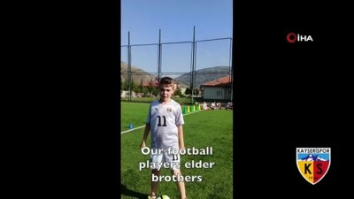 amator lig - Minik futbolculardan Kayserispor'a destek