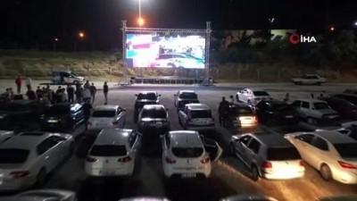 sinema filmi -  Nevşehir'de arabalı sinema keyfi devam ediyor