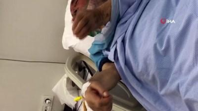 Narkozun etkisindeki yaşlı adam böyle abdest aldı