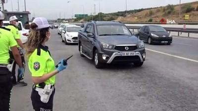 trafik cezasi -  Helikopter tespit etti, sürücülere ceza yağdı