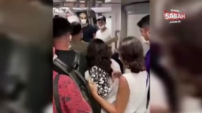 Metroda tacize uğrayan genç kadın sinir krizi geçirdi