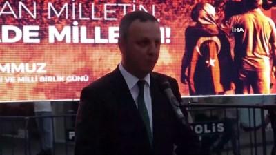 15 Temmuz darbe girişiminin 4. yılında Madenci Anıtı önünde demokrasi nöbeti