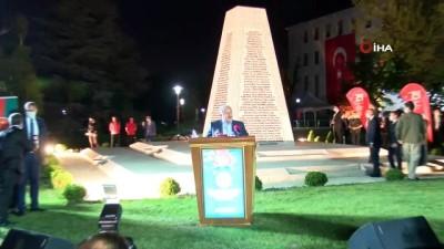 """TBMM Başkanı Şentop:"""" 15 Temmuz'da bütünüyle bu yabancı, Türkiye düşmanı yapıların taşeronluğunu yapan bir örgüt, yıllarca içimizde besledikleri bir örgüt bu darbe teşebbüsünde bulunmuştu"""""""