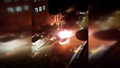 Diyarbakır'da Bağlar ilçe Belediyesinin temizlik aracına saldırı