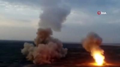 - İran, askeri tatbikatında ilk kez yerin altından balistik füze ateşledi