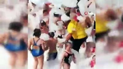 Plajda köpüklü partiye para cezası