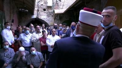 bayram namazi - İsrail'den Filistinlilerin Harem-i İbrahim'e girişine sınırlama - KUDÜS