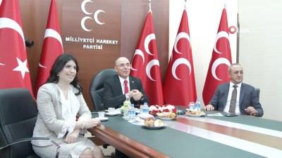- MHP'de partiler arası bayramlaşma video konferansla yapıldı