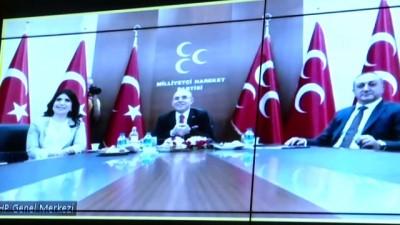 bayram namazi - Siyasi partiler videokonferans aracılığıyla bayramlaştı - AK PARTİ-MHP (2) - ANKARA