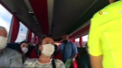 icisleri bakanligi -  Otobüslerde korona virüs denetimi