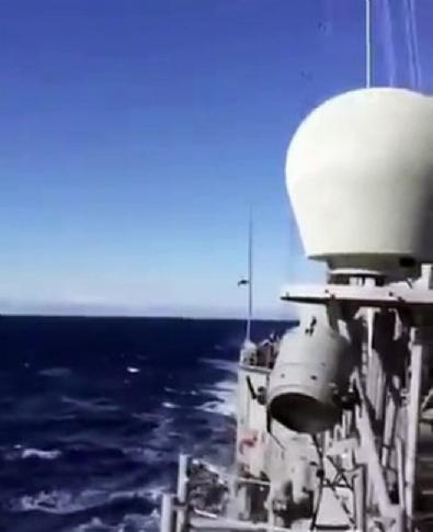 Türk F-16 savaş uçağı Oruç Reis'e böyle selam verdi