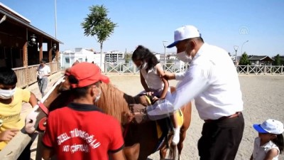 bayram hediyesi - Şehit ve gazi çocukları at bindi, ok attı - KAHRAMANMARAŞ