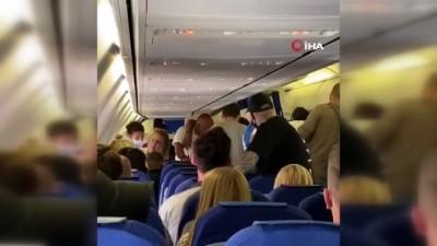 - Uçakta maske takmayan 2 yolcu darp edildi