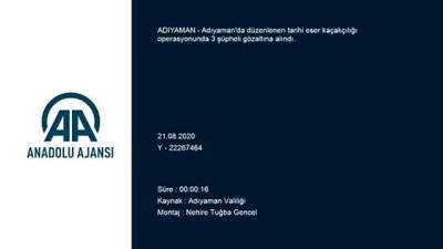 Adıyaman'da tarihi eser kaçakçılığı operasyonu: 3 gözaltı