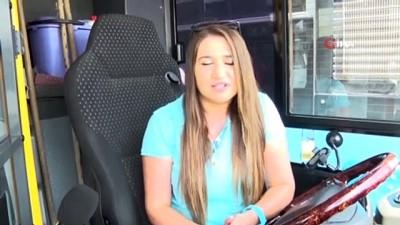 Kadın otobüs şoförleri yayla yollarında