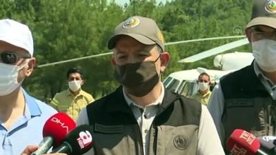 Pakdemirli: 'Manisa Hacıköseli yangını büyük ölçüde kontrol altına aldık' - İZMİR