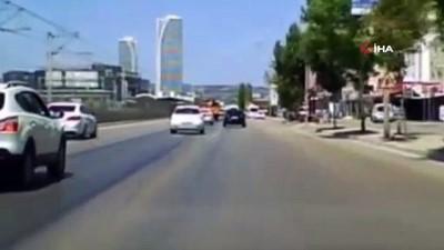 trafik cezasi -  Trafikte makasa ağır ceza...O anlar kamerada