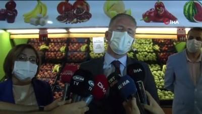 icisleri bakanligi -  Vali Davut Gül ve Fatma Şahin'den maske ve sosyal mesafe denetimi