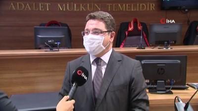 """kamera sistemi -  Ankara Batı Adliyesi Başsavcı Vekili Karakülah, """"Vatandaşlarımızdan adliyelere gelirken mutlaka maskelerini takmalarını rica ediyoruz"""""""