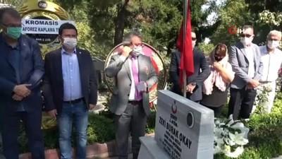 Bursalı şehit Asteğmen Zeki Burak Okay, mezarı başında dualarla anıldı