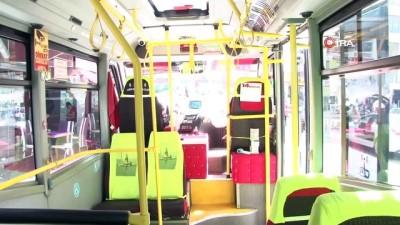 kamera sistemi -  Minibüsündeki yolcuları ve kendisini korona virüse karşı kurduğu püskürtmeli dezenfektan sistemi ile koruyacak