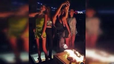 Boğazda tepki çeken doğum günü partisi