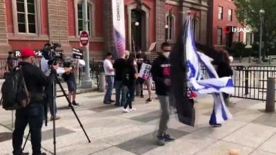 - İsrail-BAE anlaşması öncesi Beyaz Saray önünde Netanyahu karşıtı protesto