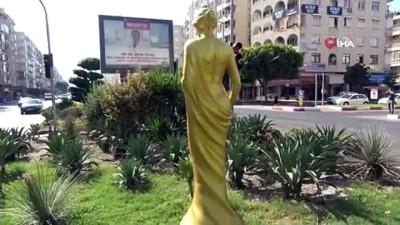 Antalya Altın Portakal Film Festivalin'in 57'nci yılına özel 57 heykel