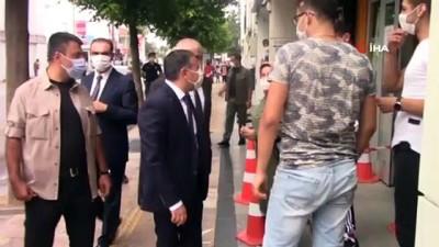 maske dagitimi -  Türkiye'de ilk kez Düzce'de hayata geçirildi...Pandemi iş yeri gözlemcileri çalışmalara başladı