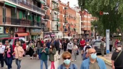 - Madrid'de yarın başlayacak olan bölgesel karantina protesto edildi