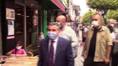maske dagitimi -  Düzce'de korona virüs denetimleri günde 3'e çıkarıldı