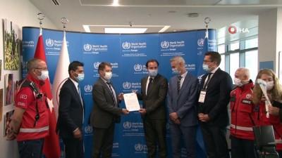 Sağlık Bakanlığı UMKE Dünya Sağlık Örgütünden kabul belgesi aldı