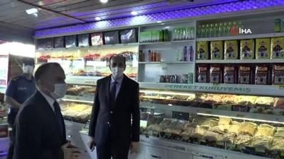 Ümraniye'de pazar ve iş yerlerinde korona denetimleri sürüyor