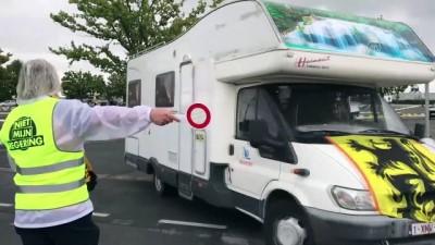 Belçika'da aşırı sağcılardan protesto - BRÜKSEL